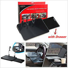 Multifunctional Car Laptop Desk Computer Steering Wheel Tray Mount with Drawer