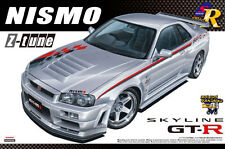 Aoshima 1/24 SCALA Skyline r34 GT-R Z-Tune PLASTIC MODEL KIT * NUOVI * STOCK