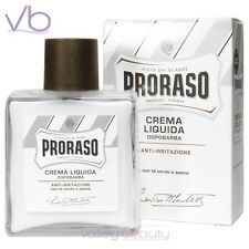 PRORASO White After Shave Liquid  Natural Cream For Sensitive Skin Made In Italy