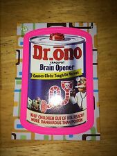 2008 WACKY PACK FLASHBACK 2 PACKAGES PINK PARALLEL STICKER DR. ONO 7 BRAIN JUICE
