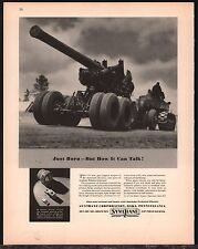 1943 WW II 155mm Gun WWII WW2 Synthane Oaks, PA Pennsylvania AD