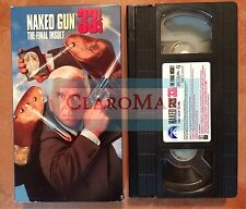 ☀️ Naked Gun 33 1/3 - The Final Insult VHS Leslie Nielsen Ana Nicole Smith MINT