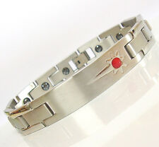 Stainless Steel Magnetic Bracelet Bio Health Arthritis Pain Therapy Tag HEXA SV