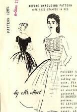 """Vintage 1950s Spadea Pattern Women's DRESS 1264 by Mr. Mort Size 11 B35"""" UNUSED"""