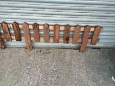 Garden Fencing Log Panel Lawn Edging Wooden Border
