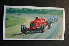 Maserati 8C 2800  Luigi Fagioli  1931 Monza Grand Prix   Motor Racing Card  VGC