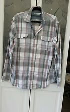 "NAUTICA HERITAGE TICK COTTON CHECKED SHIRT SIZE L - SAILING - VGC  23"" PIT 2 PIT"