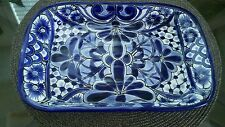 Beautiful made in Mexico clay pottery serving dish