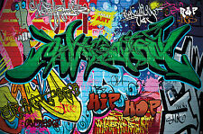 GREAT ART Graffitti Wanddekoration - Wandbild Street Art Motiv XXL Poster