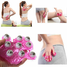CELLULITE MASSAGE GLOVE RELAX 360° HAND HELD ROLLER ANTI BODY THIGH LEG UNISEX