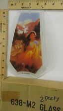 FREE US SHIP OK Touch Lamp Replacement Glass Panel Female Indian Wolf 638-M2