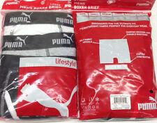 """Puma Men's White Grey Black Cotton Pack Boxer Briefs Underwear Size XL (40""""-42"""")"""