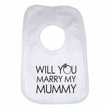 Will You Marry My Mummy Personalizzato Cotone Neonato Bavaglino for Bambino E