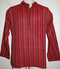 "New Gringo Grandad Collarless Shirt Large chest up to 44"" Hippy Boho Fair Trade"
