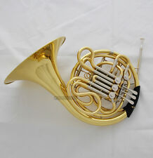 Professional Gold 4-Keys Double French Horn F/Bb Tone Cupronicekl Tuning Pipe