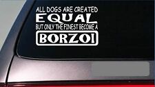 "Borzoi equal Sticker *G611* 8"" Vinyl dog racing show training russian greyhound"