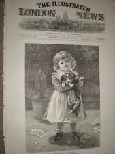 Mixed Pickles by E Buckman child and dog print 1878 ref Y1