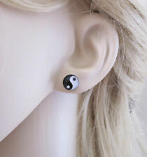 YIN YANG 925 sterling silver stud earrings