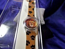 Unisex Zoobe Lion Watch w/ Citizen's Qtz Movement Art Wolf Designs RC-04