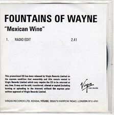(EO287) Fountains of Wayne, Mexican Wine - DJ CD
