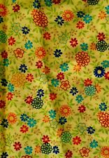 1 Yard Quilting Treasures Sweet Daisy Spring Easter Cotton Fabric Yellow Accent