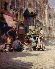 A4 photo Menpes mortimer 1855 1938 paris 1909 épluchage pommes de terre imprimé poster
