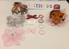 Lps :10 Mixed Accessories, 3 Lace Skirts 4 Collars 3 Bows ( LPS DOG NOT INCL )