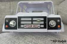 Custom Front Light Surround Plate for Gelande Landrover D90 Scale Crawler RC4WD