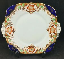 """Vintage Royal Stafford China Cake or Sandwich Plate Floral Pattern 10 1/8"""" wide"""