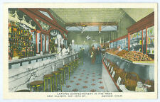 DENVER CO CONFECTIONERY STORE INTERIOR OLD UNUSED POSTCARD 1011 15th St. PC5632