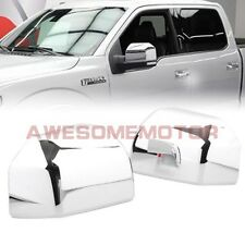 Pair Chrome Side RearView Half Mirror Cover Trim Tape For 2015-2016 Ford F150 AM