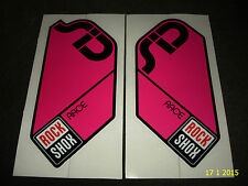 AUTHENTIC ROCKSHOX SID RACE MAGENTA FORK STICKERS #2 DECALS ROCK SHOX AUFKLEBER