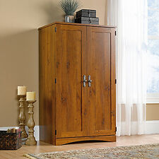 Computer Armoire - Abbey Oak - Harvest Mill Collection (404958)