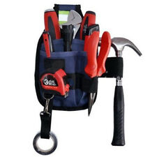 Professional 3-Pocket Electrician Tool Belt Utility Pouch Work w/Tape Buckle