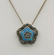 VICTORIAN OPAL PENDANT STERLING SILVER 925 ANTIQUE LOOKING STYLE