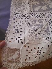 Vintage Edwardian White Lace Tabard Dress