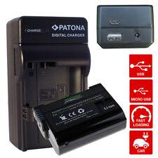 batteria e caricabatteria per nikon D7000 D7100 D7200 enel15 premium 2000mah