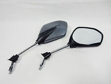 CARBON FIBER MIRROR SET FOR MANY 50cc & 150cc CHINESE SCOOTERS 8mm RH THREADS