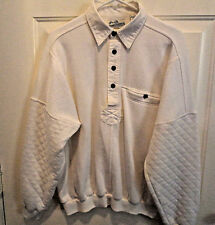 Men's Fleece Lined  Shirt Long Sleeves 4 Button Front size Large