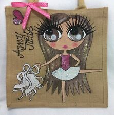 Personalised Handpainted Ice Skater Skating Girl Dancer Handbag Hand Bag Gift