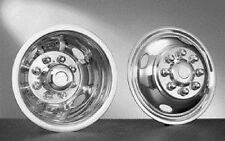 """HUBCAPS STAINLESS FOR CUTAWAY BUS OR VAN  16"""" DUALLY 4 HAND HOLE 8 LUG 16 INCH"""