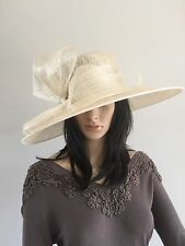 FAILSWORTH CREAM AND SILVER WEDDING OCCASION HAT MOTHER OF THE BRIDE