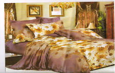 Designer 3D Print Double Bed Sheet With 2 Pillow Covers - (3D-107)