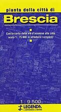 Pianta di Brescia Mappa 1:9500  - Legenda - Cartina nuova in Offerta!