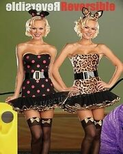 When the Cats Away Sexy Reversible Cat & Mouse Halloween Costume SIZE LARGE