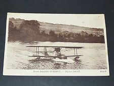CPA 1920-1930 AVIATION AVION HYDRAVION SCHRECK BIPLACE 180 CV