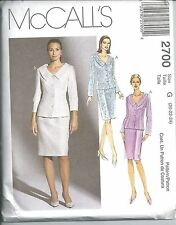 McCalls Sewing Pattern # 2700 Misses Petite Lined Jacket and Skirt Size 20-22-24
