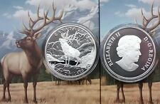 $100 2016 THE ELK 1OZ Pure Silver Proof Coin Canada.