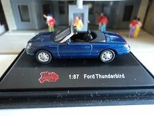 MALIBU  2003/04  FORD  THUNDERBIRD  BLUE   CONVERTIBLE  1/87  HO CAR    DIE CAST