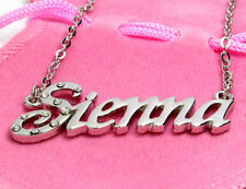 Name Necklace SIENNA - 18ct White Gold Plated - Custom Personalised Jewellery